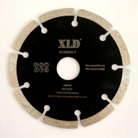 Sale XLD 115mm Diamond Saw Blade Cold-pressed Segmented Dry Cutting Disc - BLACK  Mobile