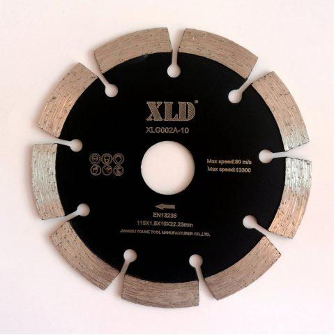Chic XLD 115mm Diamond Cold-pressed Segmented Saw Blade Dry Cutting BLACK