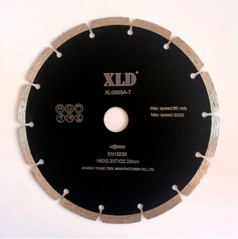 Discount XLD 7 Inch Diamond Cold-pressed Segmented Saw Blade Dry Cutting BLACK