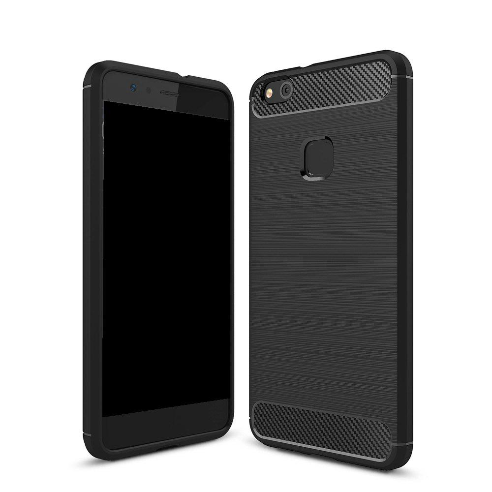 Buy Wkae Solid Color Carbon Fiber Texture TPU Soft Protective Case for HUAWEI P10 Lite