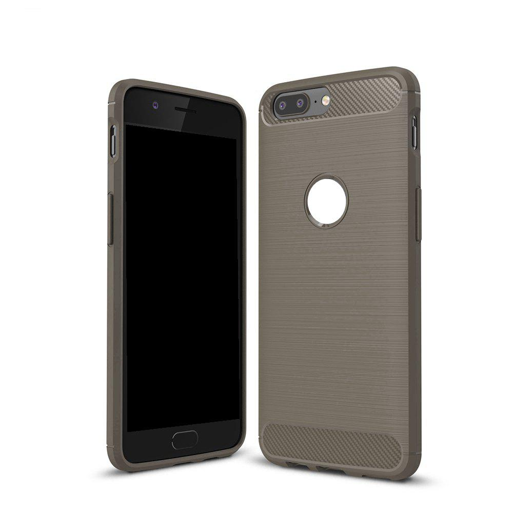 cheap for discount 04a9e b7684 Wkae Solid Color Carbon Fiber Texture TPU Soft Protective Case for OnePlus 5