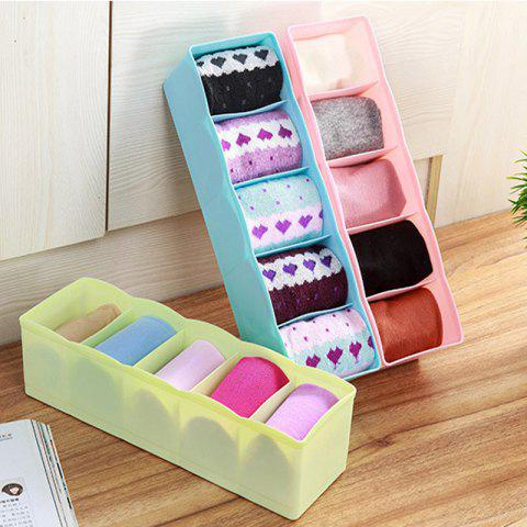 Trendy DIHE Candy Color Separated Underwear Boxes in Drawer 1PC